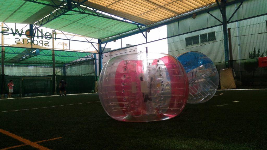 【やってみた】サッカー苦手女子がバブルサッカーで下剋上